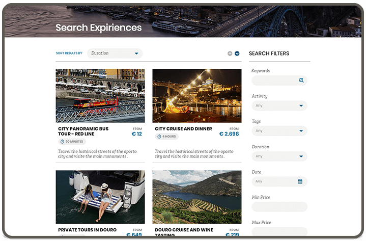 Search Experiences page [view-01]