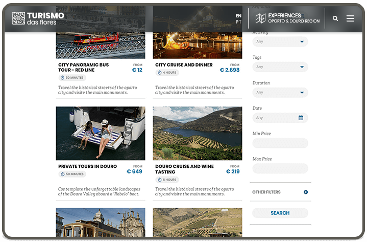 Search Experiences page [view-02]