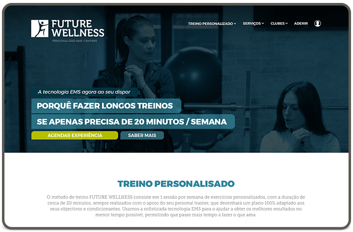 Personalised Training page [header]